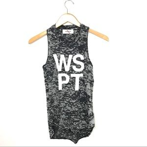 soulcycle Tops - Soulcycle WSPT Racerback Tank Top Gray Logo XS A1